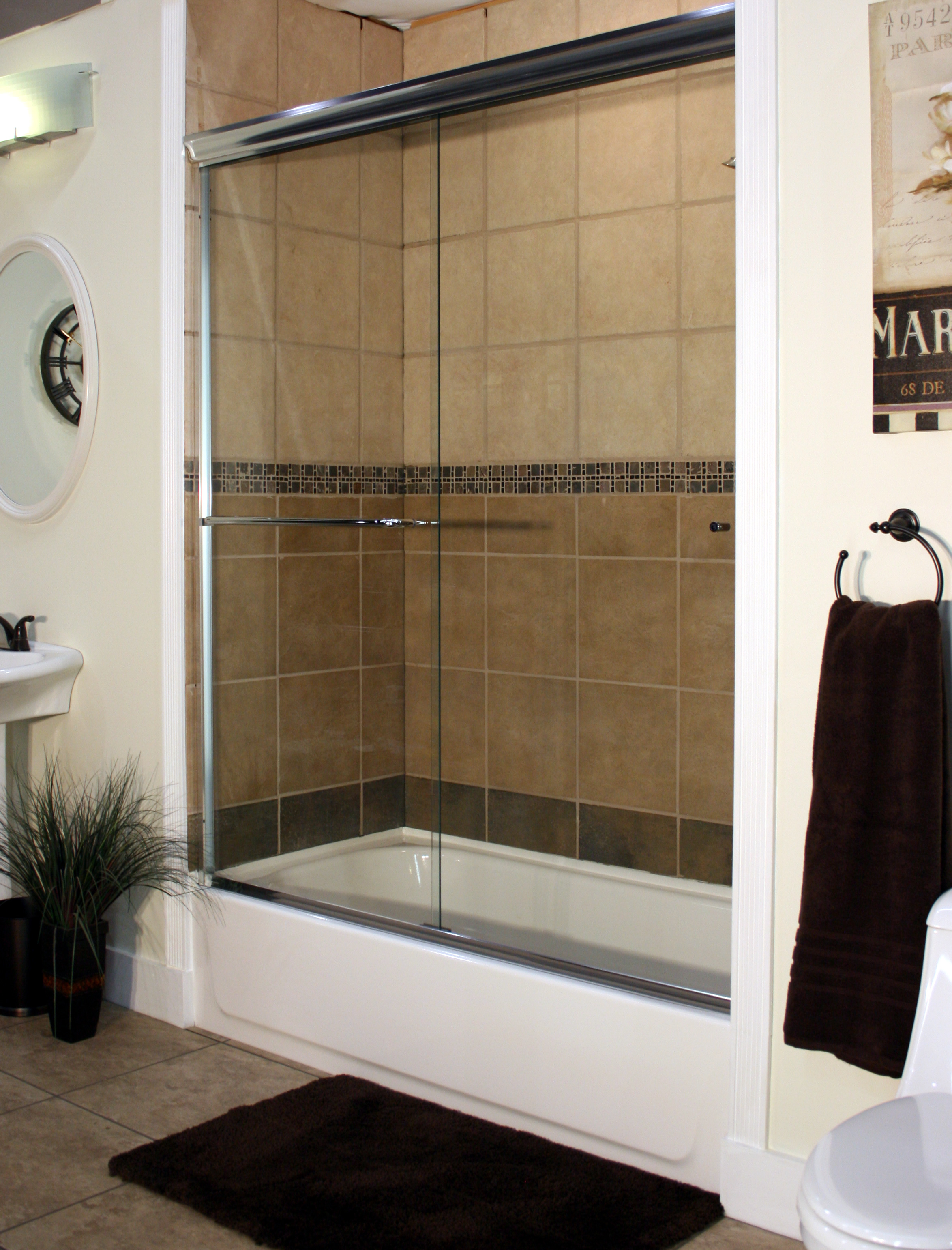 Apollo Sliding Shower Enclosures - CH-Clear - Euro with standard jambs