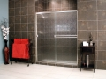 Cardinal Sliding Shower Enclosures - BrushedNickel_Rain_03
