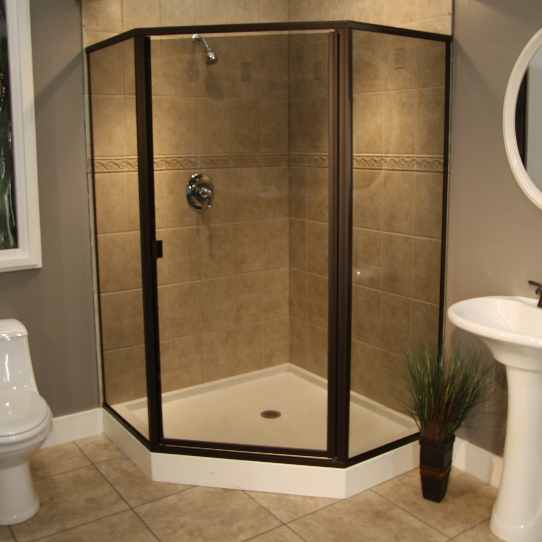 Shower Enclosures - Cardinal Series - CDNEO - ORB-Smoke