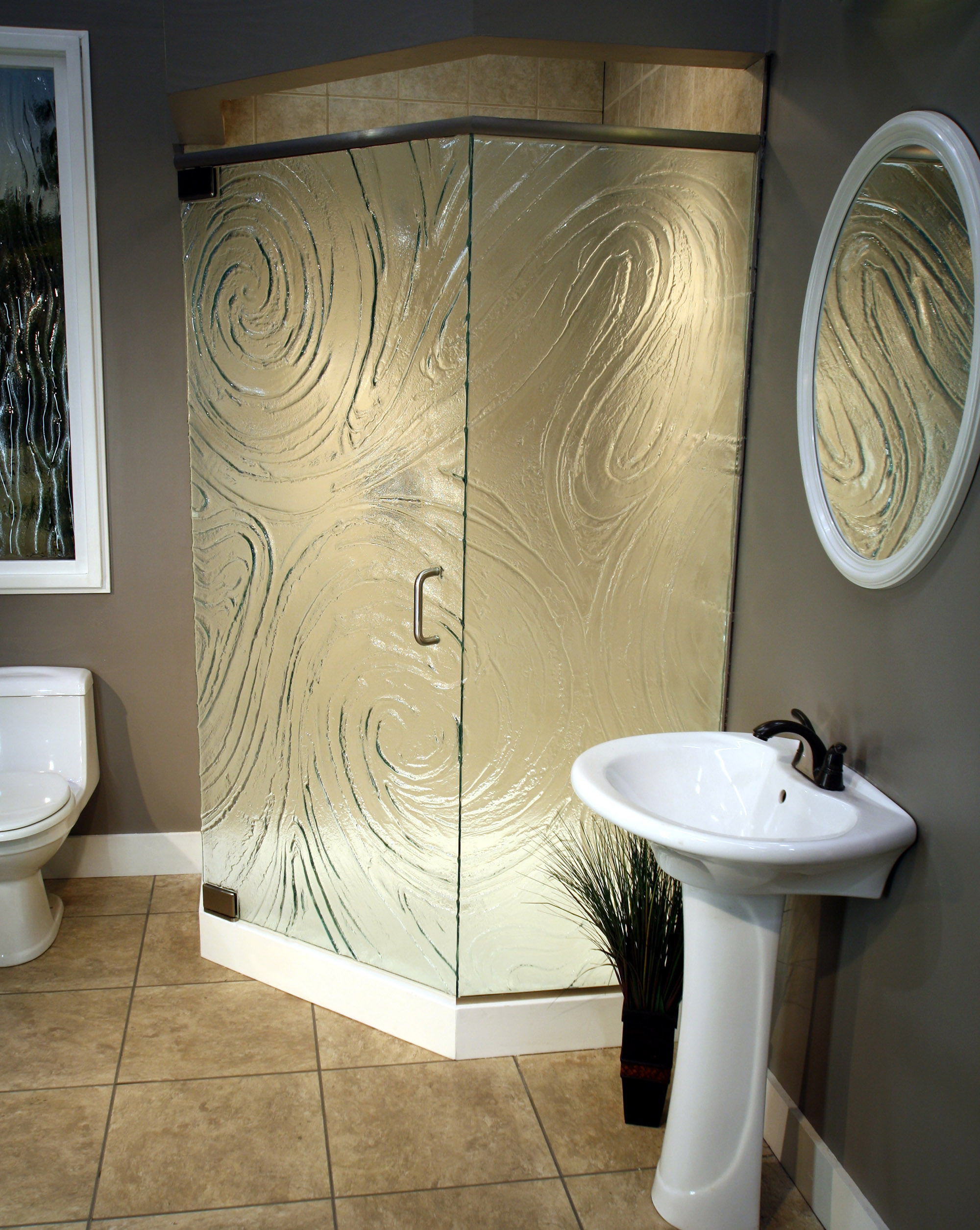 Cast Glass Shower Enclosure - Neo - Storm