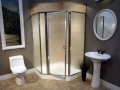 Shower Enclosure, Craftsman Swing Series - Chrome-Rain 01