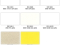 Shower Enclosure Powder Coating Finish Options: White, Beige, Yellow