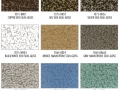 Shower Enclosure Powder Coating Finish Options: Various colors with veining