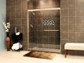 Shower Enclosures - Euro Series - TESE BrushedNickel Clear 03
