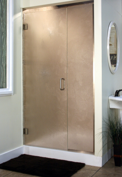 Heavy Glass Pattern Shower Enclosures - Brush, shower enclosure example