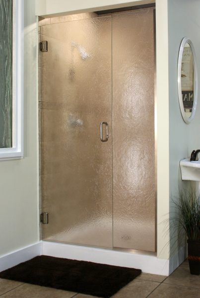 Heavy Glass Pattern Shower Enclosures - Flurry, shower enclosure example
