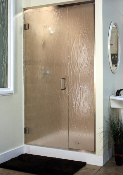 Heavy Glass Pattern Shower Enclosures - Wisp, shower enclosure example