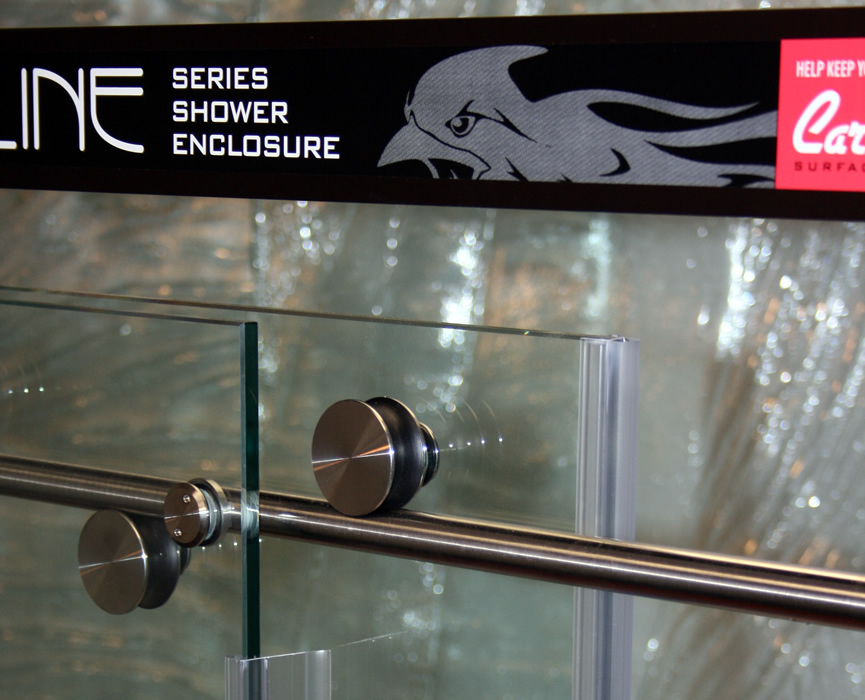 Cardinal Shower Enclosure, Skyline Series - Wheel Detail