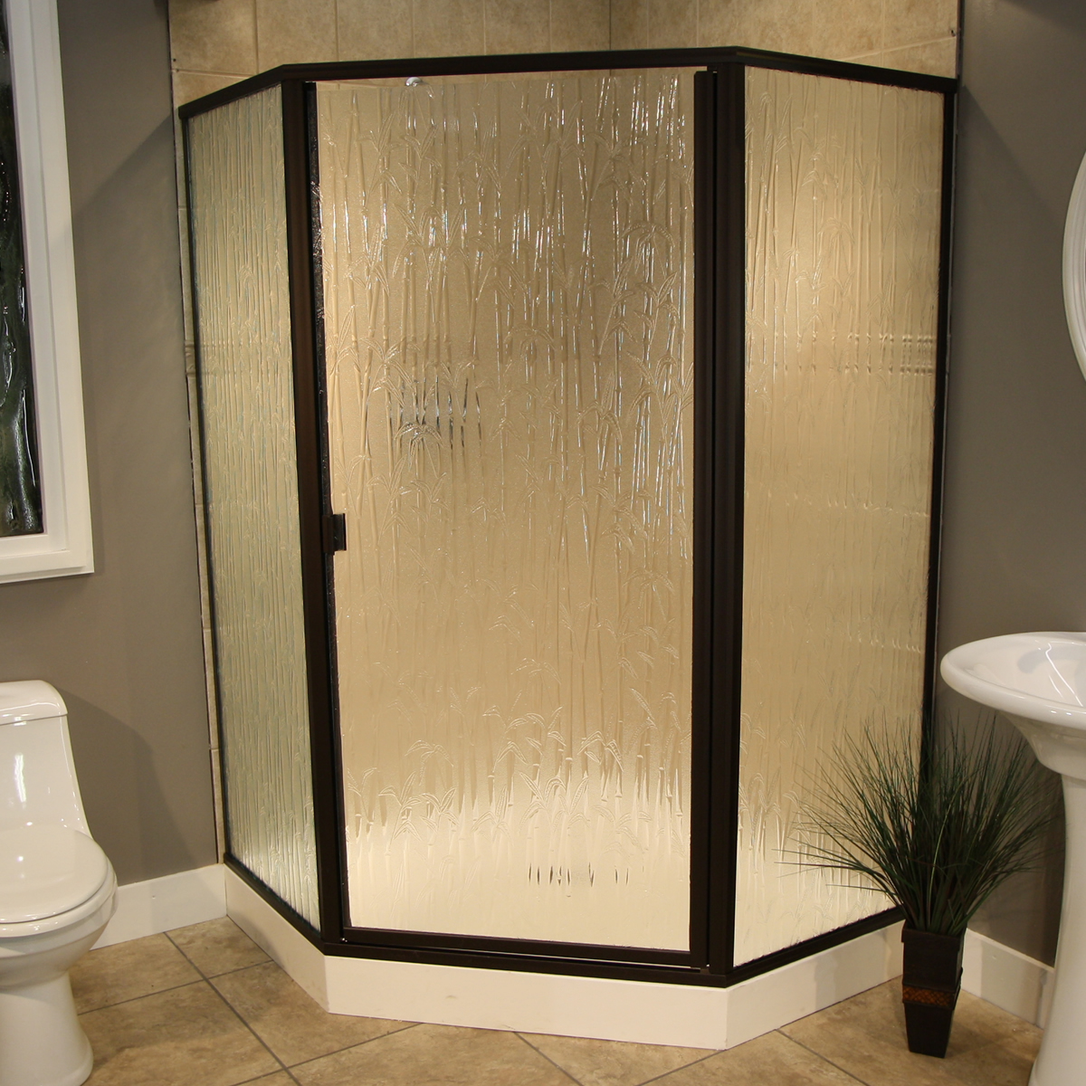 Rain Glass Kitchen Cabinet Doors: Shower Enclosure: Thin Glass, Pattern Examples