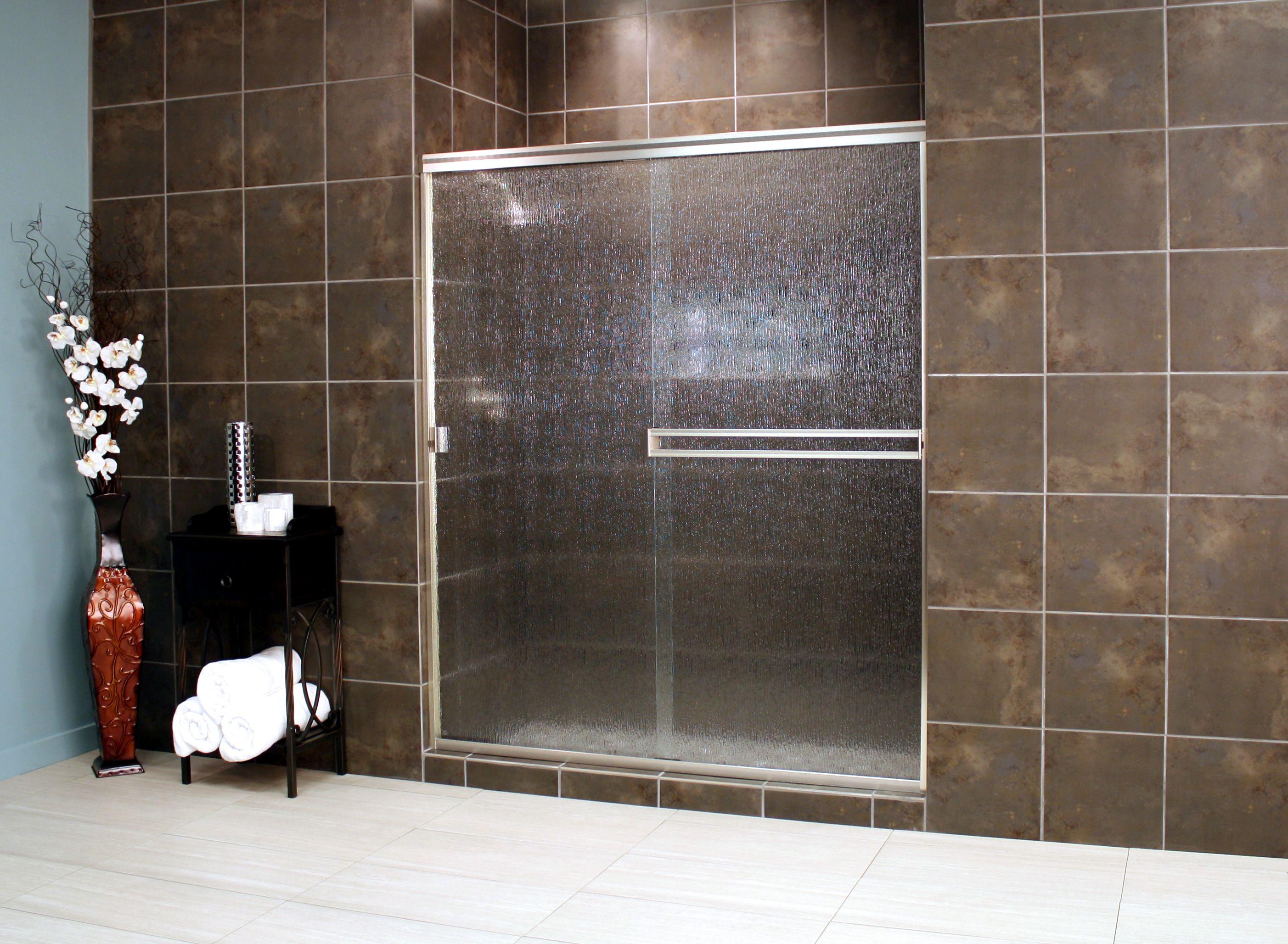 Thin Glass Pattern Shower Enclosures - Rain, shower enclosure example