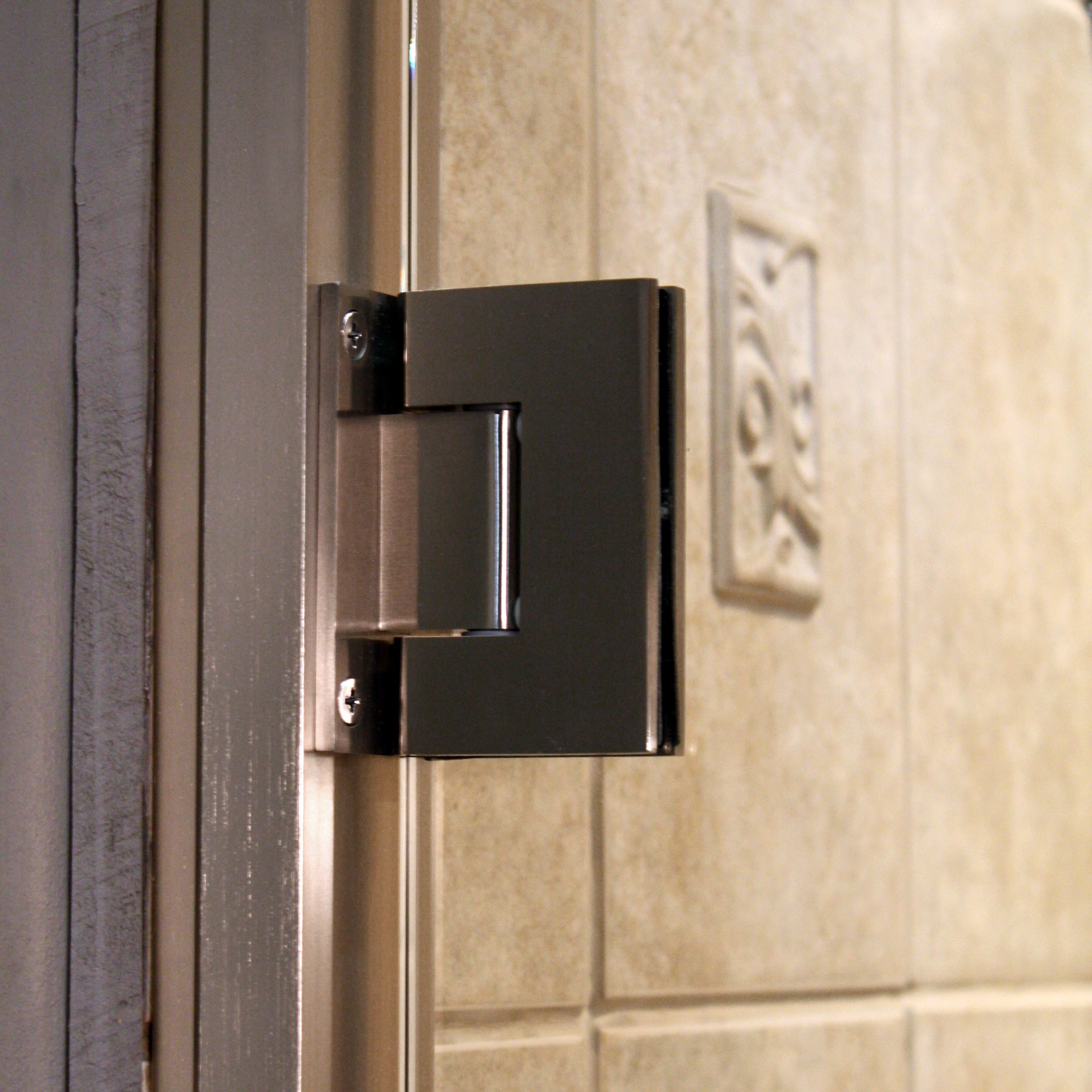 Shower Enclosure, TruFit Series - Brushed Nickel - Detail