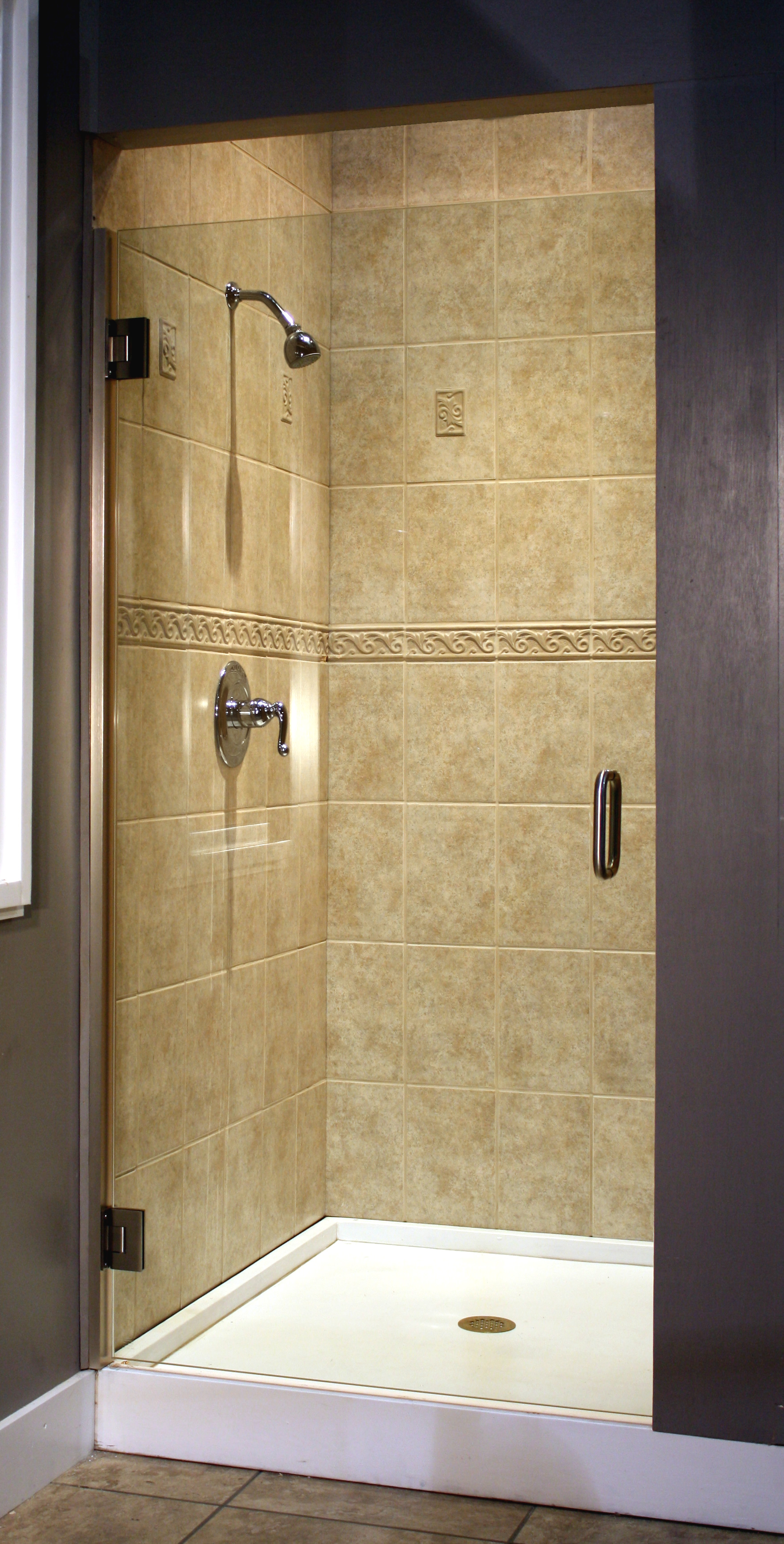 Shower Enclosure, TruFit Series - Brushed Nickel