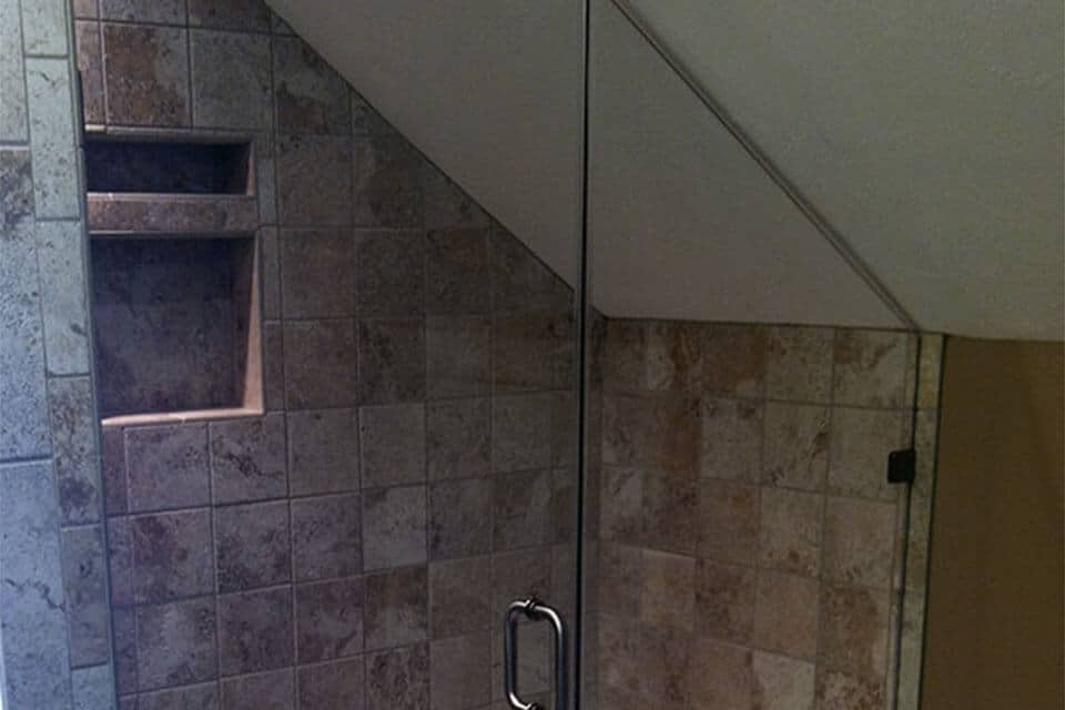 Example of a Corner Shower Enclosure