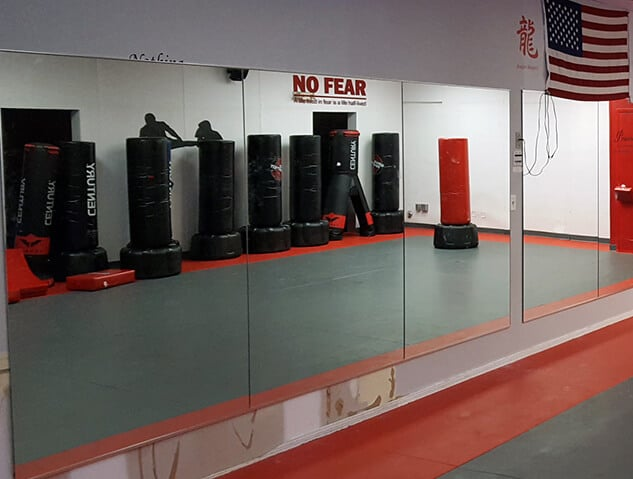 karate studio mirror