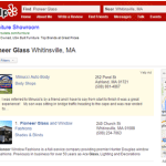 Pioneer Glass Yelp Listing