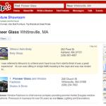 Pioneer Glass Yelp Listing