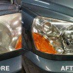 headlights headlamps foggy dimmed repair clean