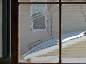 An example of a wavy restoration window pane.