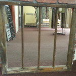 New Mirror Glass in an Rough Distressed Window Frame