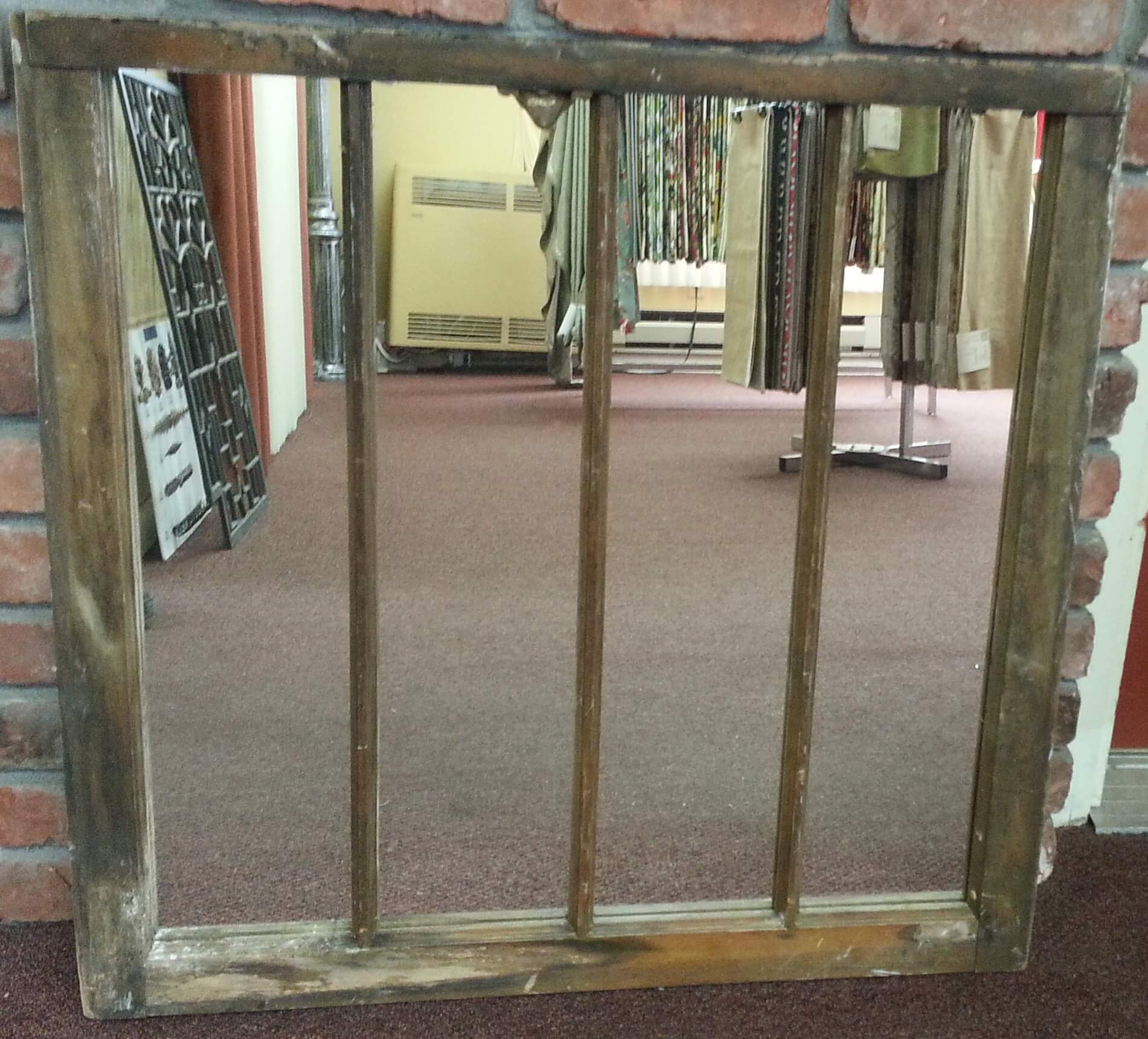 new mirror glass in an rough distressed window frame - Distressed Window Frame
