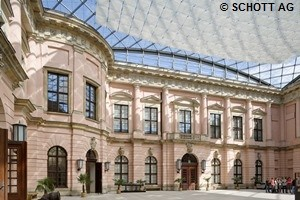 Matching the historic architecture, the restoration glass RESTOVER® was used for the windows of the German Historical Museum in Berlin. - Schott.com
