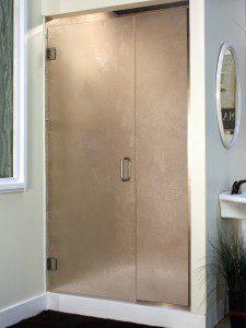 Heavy Glass Door and Panel - Cardinal Heavy Brush Shower Enclosure
