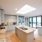 skylight glass in kitchen