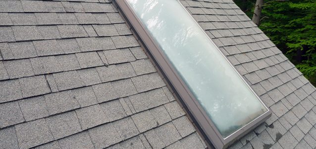 fogged skylight glass