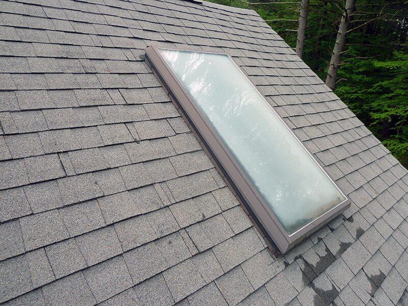 fogged skylight glass