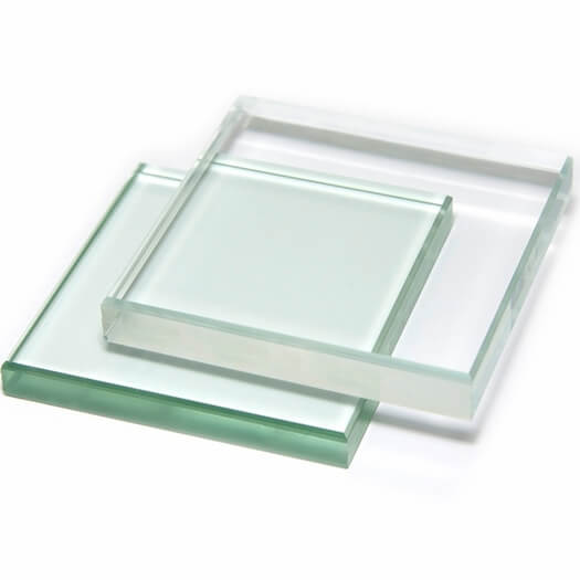 low iron glass comparison with clear glass