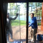 Replacing a sliding patio door fogged glass panel