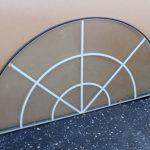 Sunburst arch window
