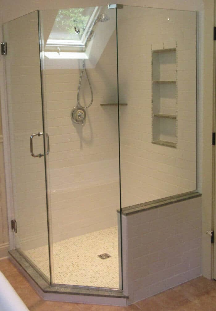 Neo-Angle Shower Enclosures: Space Saving Corner Showers | Pioneer Glass