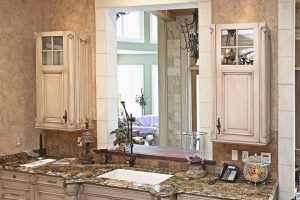 Big kitchen custom antique mirror