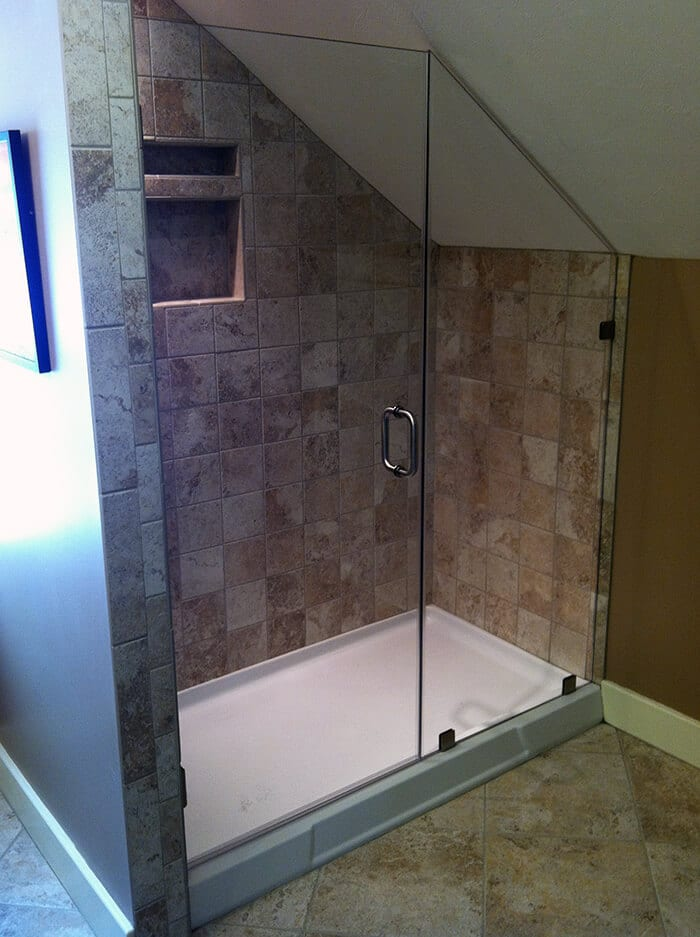 Corner Shower Example with two walls