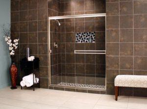 Cardinal Sliding Shower Enclosures - BrushedNickel_Clear_02