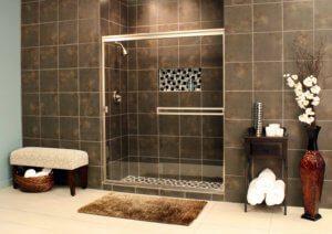Cardinal Sliding Shower Enclosures - BrushedNickel_Clear_04