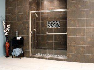 Cardinal Sliding Shower Enclosures - BrushedNickel_Clear_05