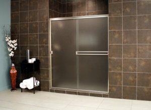 Cardinal Sliding Shower Enclosures - BrushedNickel_Obscure_02