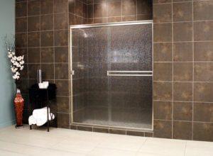 Cardinal Sliding Shower Enclosures - BrushedNickel_Rain_01