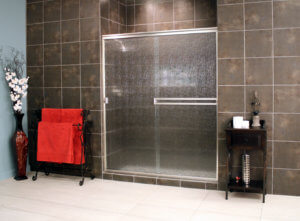 Cardinal Sliding Shower Enclosures - BrushedNickel_Rain_03