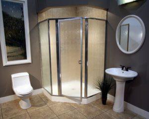 Shower Enclosure, Craftsman Swing Series - Chrome-Rain 01