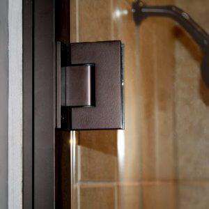 Shower Enclosure, TruFit Series - Roman Bronze - Detail