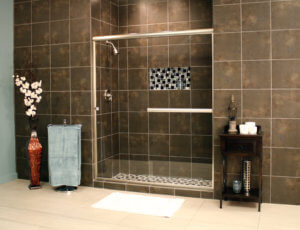 Shower Enclosures - Euro Series - LESE BrushedNickel Clear 03