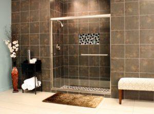 Shower Enclosures - Euro Series - TESE BrushedNickel Clear 03