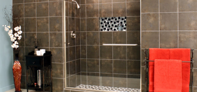 Shower Enclosures - Euro Series - TESE BrushedNickel Clear 04