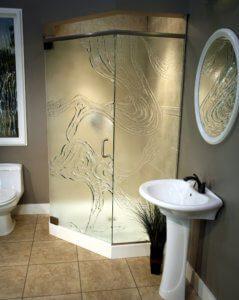 Cast Glass Shower Enclosure - Neo - Meander