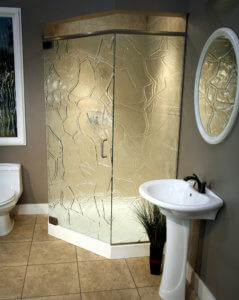 Cast Glass Shower Enclosure - Neo - Rock Wall