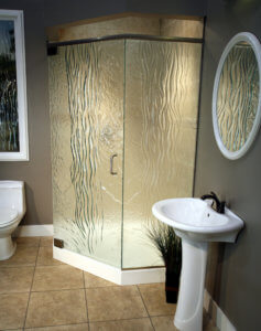 Cast Glass Shower Enclosure - Neo - Waterfall