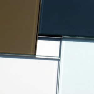 Heavy Glass Pattern Shower Enclosures - Colors side by side